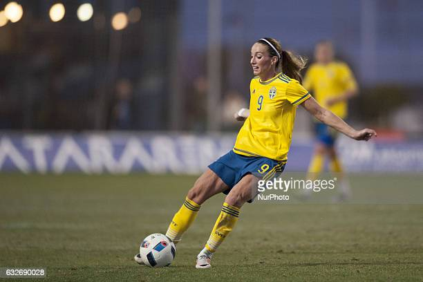 Kosovare Asllani during the preseason friendly match between national women's Sweden vs England in Pinatar Arena San Pedro del Pinatar Murcia SPAIN...
