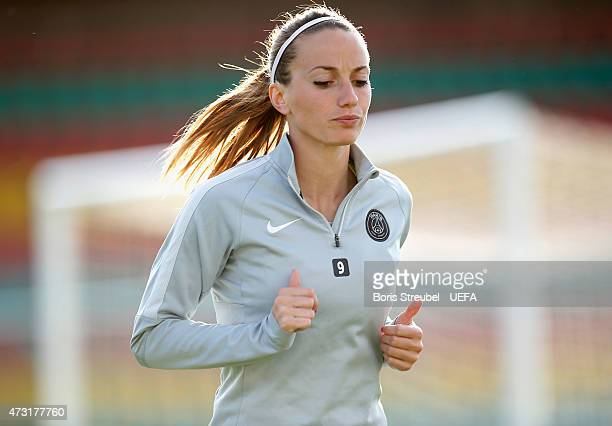 Kosovare Asllani of Paris attends the training session a day before the UEFA Women's Champions League Final match between 1 FFC Frankfurt and Paris...