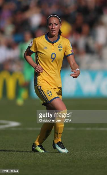 Kosovare Asllani of Sweden in action during the UEFA Women's Euro 2017 Group B match between Sweden and Russia at Stadion De Adelaarshorst on July 21...