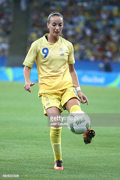 Kosovare Asllani of Sweden in action during the Women's Soccer Final between Germany and Sweden at Maracana Stadium on August 19 2016 in Rio de...
