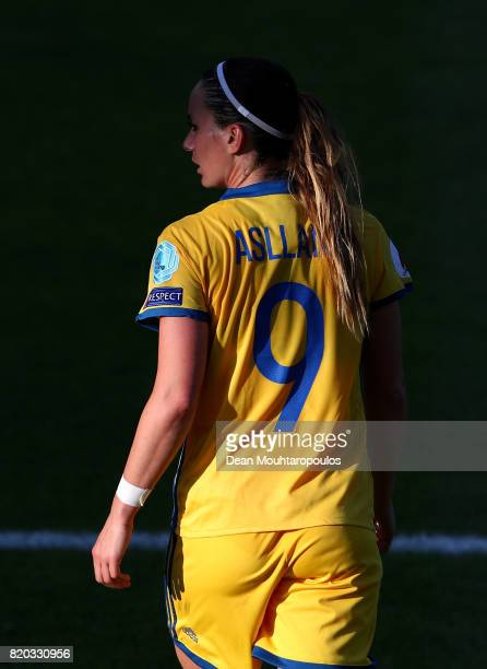 Kosovare Asllani of Sweden looks on during the Group B match between Sweden and Russia during the UEFA Women's Euro 2017 at Stadion De Adelaarshorst...