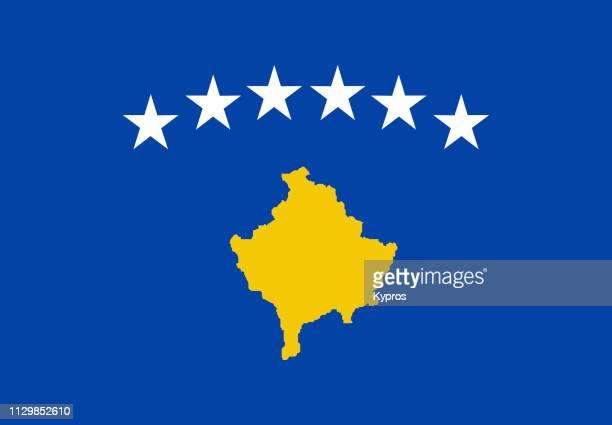 kosovo flag - kosovo photos et images de collection