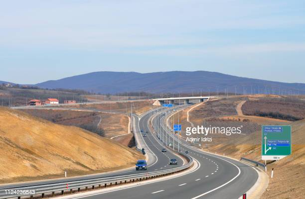 "kosovo highway ""ibrahim rugova"" - kosovo stock pictures, royalty-free photos & images"