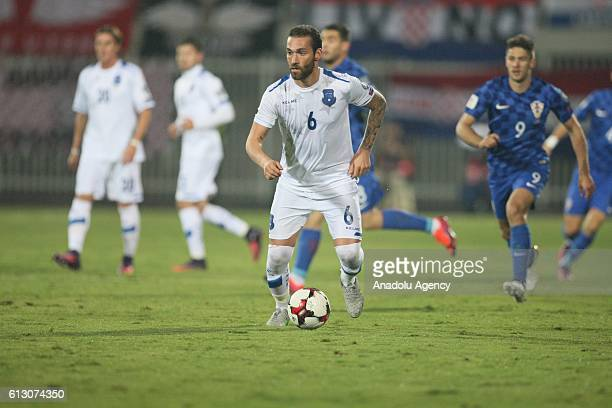 Kosovo's Avni Pepe is in action during the World Cup 2018 qualifier football match between Kosovo and Croatia in Loro Borici stadium in Shkoder...