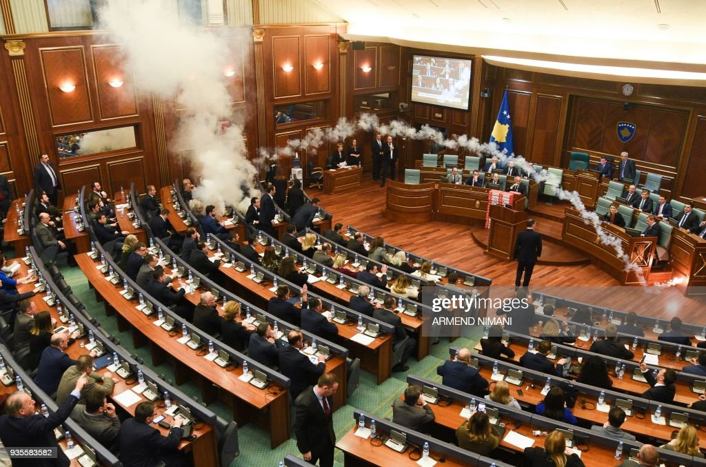 Opposition Party Sets Off Tear Gas In Kosovo Parliament