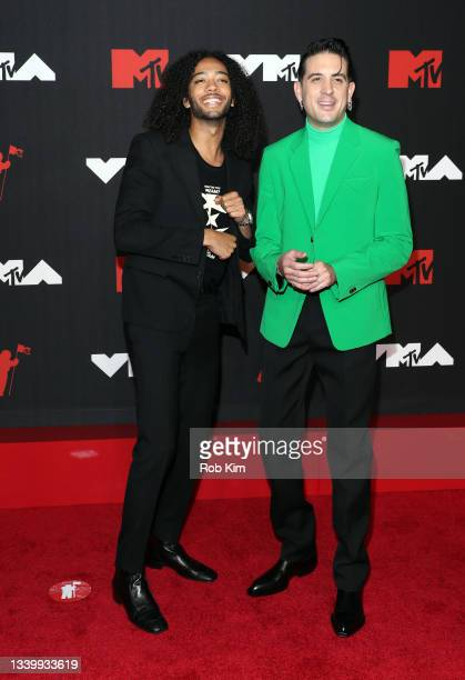 Kossisko and G-Eazy attend the 2021 MTV Video Music Awards at Barclays Center on September 12, 2021 in the Brooklyn borough of New York City.