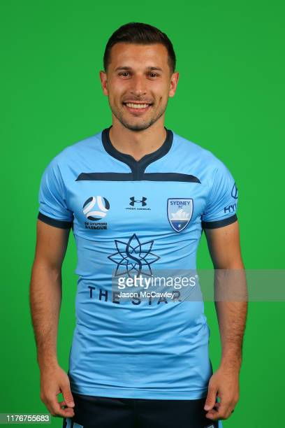 Kosta Barbarouses of Sydney poses during the Sydney FC 2019-20 A-League Headshots Session at Netstrata Jubilee Stadium on September 24, 2019 in...