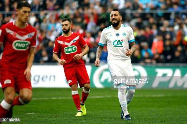 Kostantinos Mitroglou of Marseille during the french National Cup match between Marseille and Valenciennes on January 7 2018 in Marseille France