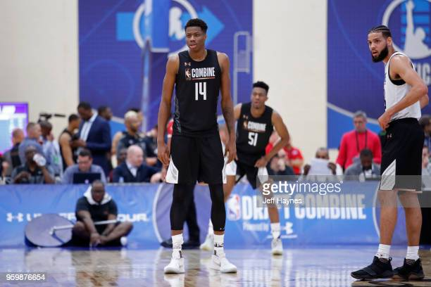 Kostas Antetokounmpo looks on during the NBA Draft Combine Day 1 at the Quest Multisport Center on May 17 2018 in Chicago Illinois NOTE TO USER User...