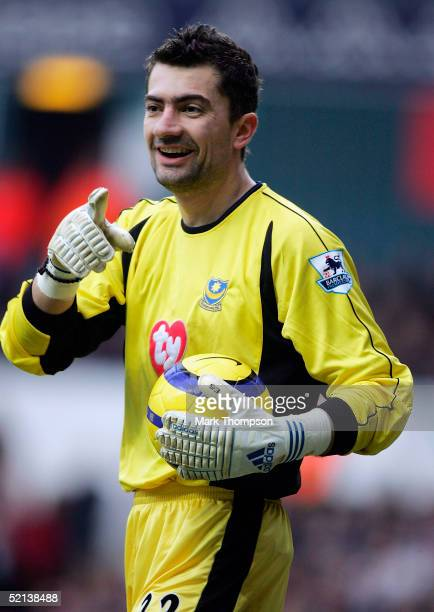 Kostas Chalkias of Portsmouth during the FA Barclays Premiership match between Tottenham Hotspur and Portsmouth at White Hart Lane on February 5 2005...