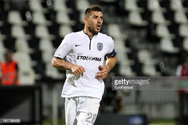 Kostas Katsouranis of PAOK FC in action during the UEFA Europa League group stage match between PAOK FC and FC Shakhter Karagandy held on September...
