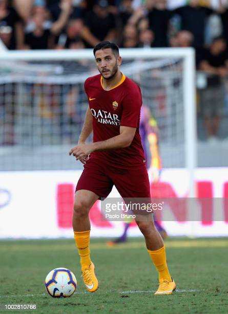 Kostas Manolas of AS Roma controls the ball during the PreSeason Friendly match between AS Roma and Avellino at Stadio Benito Stirpe on July 20 2018...