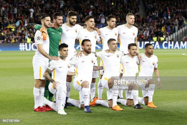 Kostas Manolas of AS Roma goalkeeper Alisson Becker of AS Roma Federico Fazio of AS Roma Lorenzo Pellegrini of AS Roma Kevin Strootman of AS Roma...