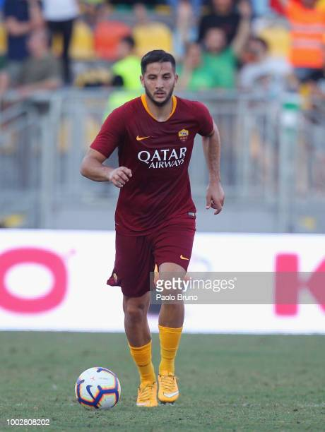 Patrik Schick of AS Roma controls the ball during the PreSeason Friendly match between AS Roma and Avellino at Stadio Benito Stirpe on July 20 2018...