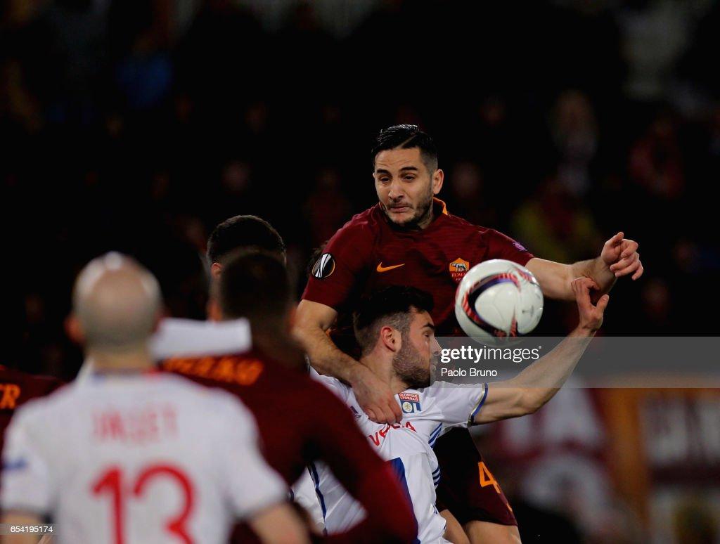 AS Roma v Olympique Lyonnais - UEFA Europa League Round of 16: Second Leg : News Photo