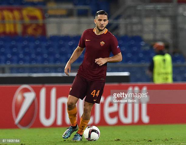 Kostas Manolas of AS Roma in action during the UEFA Europa League match between AS Roma and FC Astra Giurgiu at Olimpico Stadium on September 29 2016...