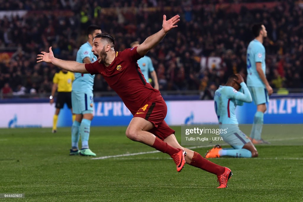 AS Roma v FC Barcelona - UEFA Champions League Quarter Final Leg Two : News Photo