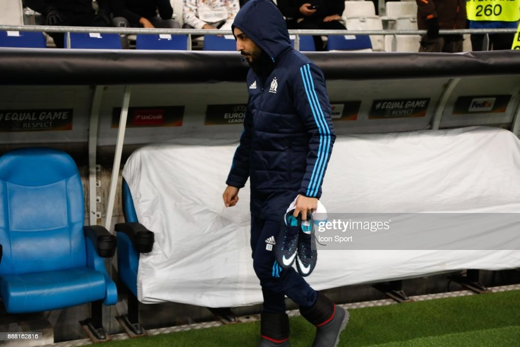 Kostas Mitroglou of Marseille during the Uefa Europa League match between Olympique de Marseille and Red Bull Salzburg at Stade Velodrome on December 7, 2017 in Marseille, France.