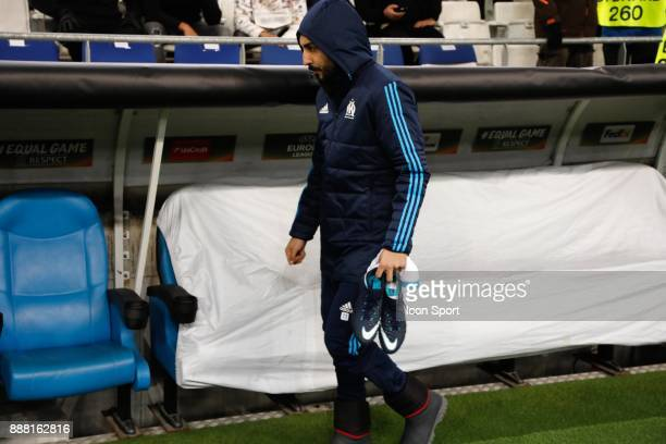 Kostas Mitroglou of Marseille during the Uefa Europa League match between Olympique de Marseille and Red Bull Salzburg at Stade Velodrome on December...