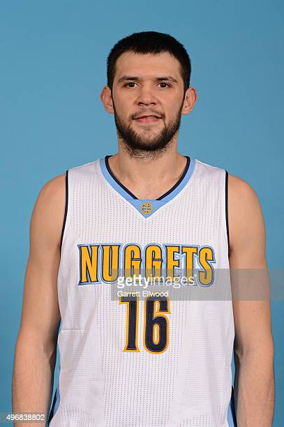 Kostas Papanikolaou of the Denver Nuggets poses for a head shot on November 10 2015 at the Pepsi Center in Denver Colorado NOTE TO USER User...