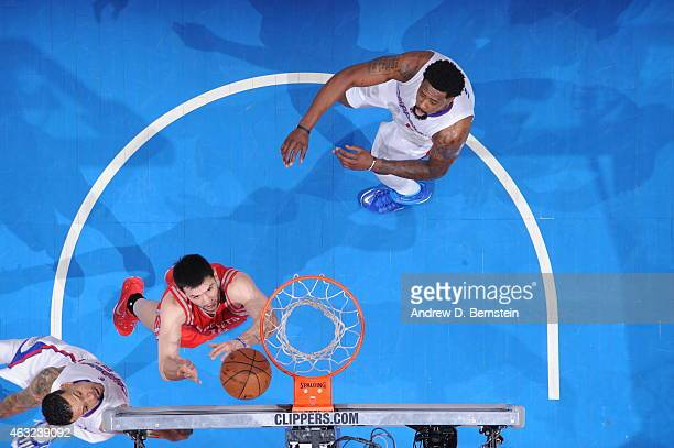 Kostas Papanikolaou of the Houston Rockets shoots against the Los Angeles Clippers at STAPLES Center on February 11 2015 in Los Angeles California...