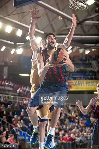 Kostas Papanikolau #16 of FC Barcelona in action during the 20132014 Turkish Airlines Euroleague Regular Season Date 10 game between FC Barcelona v...