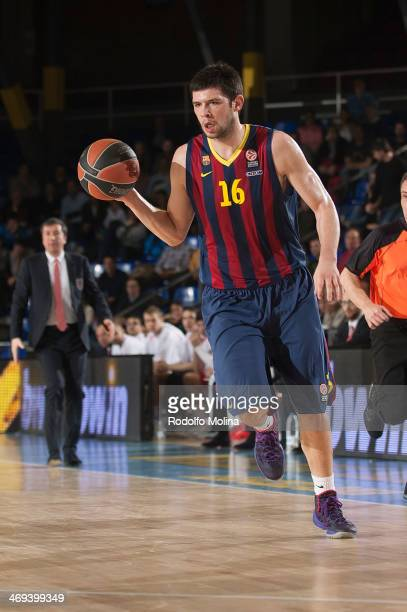 Kostas Papanikolau #16 of FC Barcelona in action during the 20132014 Turkish Airlines Euroleague Top 16 Date 6 game between FC Barcelona Regal v EA7...