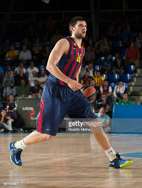 Kostas Papanikolau of FC Barcelona in action during the 20132014 Turkish Airlines Euroleague Regular Season Date 4 game between FC Barcelona Regal v...
