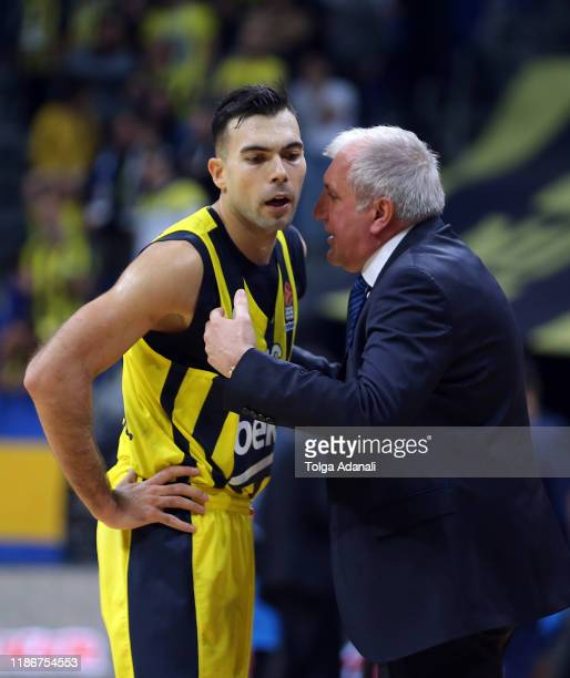 Kostas Sloukas #16 and Zeljko Obradovic of Fenerbahce Beko Istanbul in action during the 2019/2020 Turkish Airlines EuroLeague Regular Season Round...
