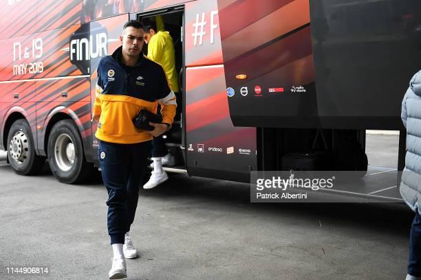 Kostas Sloukas #16 of Fenerbahce Beko Istanbul arrives before the Turkish Airlines Euroleague Third Place Game Fenerbahce Beko Istanbul v Real Madrid...