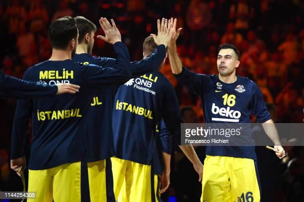 Kostas Sloukas #16 of Fenerbahce Beko Istanbul before 2019 Turkish Airlines EuroLeague Final Four Semifinal A game between Fenerbahce Beko Istanbul v...
