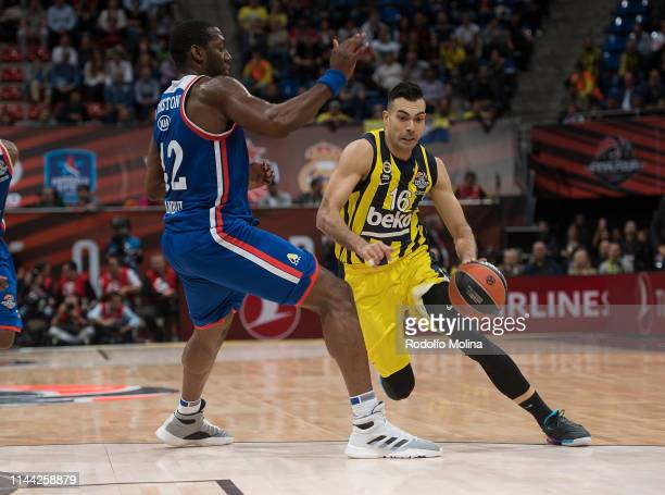 Kostas Sloukas #16 of Fenerbahce Beko Istanbul in action during 2019 Turkish Airlines EuroLeague Final Four Semifinal A game between Fenerbahce Beko...