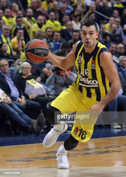 Kostas Sloukas #16 of Fenerbahce BEKO Istanbul in action during the 2018/2019 Turkish Airlines EuroLeague Regular Season Round 18 game between...