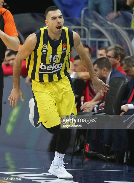 Kostas Sloukas #16 of Fenerbahce Beko Istanbul in action during the 2018/2019 Turkish Airlines EuroLeague Regular Season Round 20 game between...