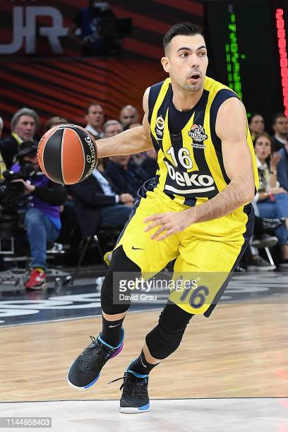 Kostas Sloukas #16 of Fenerbahce Beko Istanbul in action during the Turkish Airlines Euroleague Third Place Game Fenerbahce Beko Istanbul v Real...