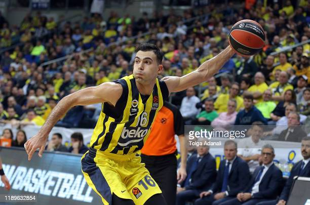Kostas Sloukas #16 of Fenerbahce Beko Istanbul in action during the 2019/2020 Turkish Airlines EuroLeague Regular Season Round 15 match between...