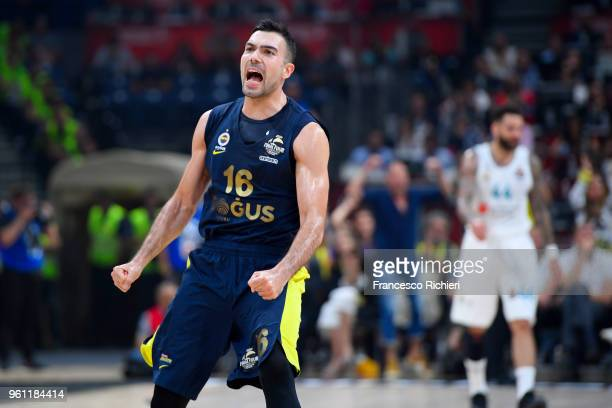 Kostas Sloukas #16 of Fenerbahce Dogus Istanbul during the 2018 Turkish Airlines EuroLeague F4 Championship Game between Real Madrid v Fenerbahce...