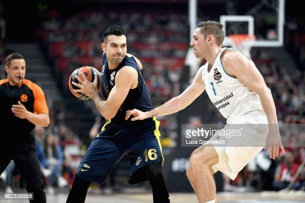 Kostas Sloukas #16 of Fenerbahce Dogus Istanbul in action during the 2018 Turkish Airlines EuroLeague F4 Championship Game between Real Madrid v...