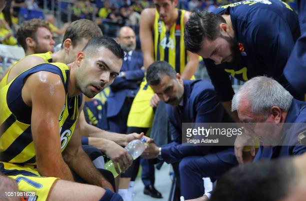 Kostas Sloukas #16 of Fenerbahce Istanbul in action during the 2018/2019 Turkish Airlines EuroLeague Regular Season Round 1 game between Fenerbahce...