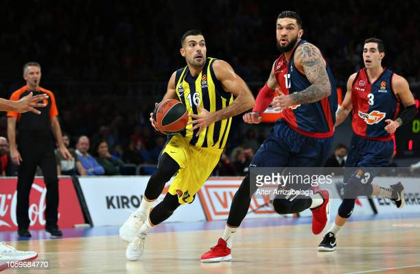 Kostas Sloukas #16 of Fenerbahce Istanbul in action during the 2018/2019 Turkish Airlines EuroLeague Regular Season Round 6 game between Kirolbet...