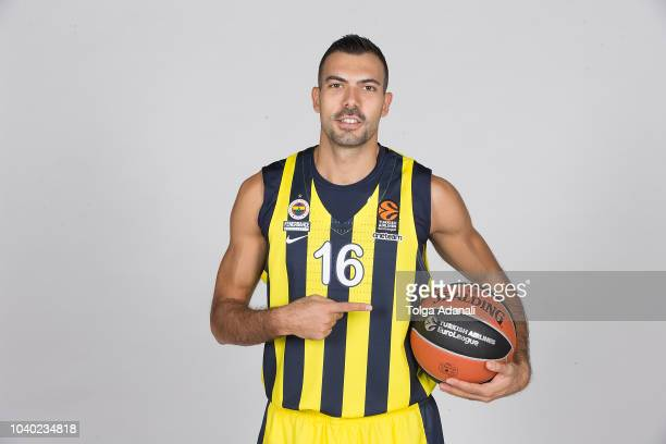 Kostas Sloukas #16 of Fenerbahce Istanbul poses during the Fenerbahce Istanbul 2018/2019 Turkish Airlines EuroLeague Media Day at Ulker Sports Arena...