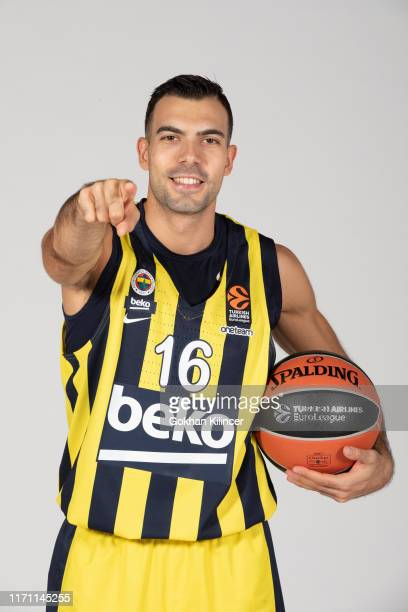 Kostas Sloukas #16 poses during the Fenerbahce Beko Istanbul 2019/2020 Turkish Airlines EuroLeague Media Day at Ulker Sports Arena on September 23...