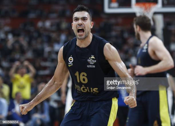 Kostas Sloukas of Fenerbahce reacts during the Turkish Airlines Euroleague Final Four Belgrade 2018 Final match between Real Madrid and Fenerbahce...
