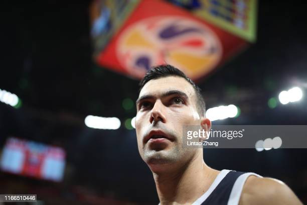 Kostas Sloukas of Greece reacts during FIBA World Cup 2019 Group K match between USA and Greece at Shenzhen Bay Sports Centre on September 7 2019 in...