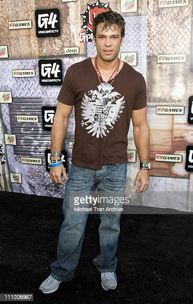 Kostas Sommer during GPhoria 2005 The Mother of All Videogame Award Shows Arrivals at Los Angeles Center Studios in Los Angeles California United...