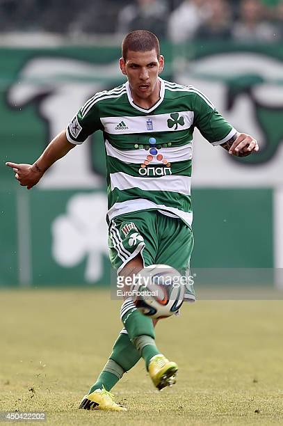 Kostas Triantafyllopoulos of Panathinaikos in action during the Greek Cup semifinal match between Panathinaikos FC and OFI Crete FC at the Apostolos...
