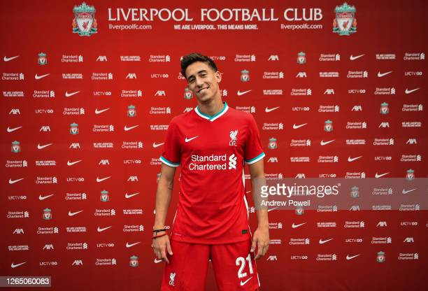 Kostas Tsimikas new signing for Liverpool at Melwood Training Ground on August 10, 2020 in Liverpool, England.