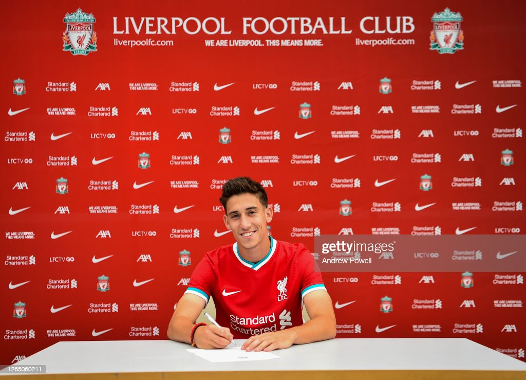 Liverpool Unveil New Signing Kostas Tsimikas : News Photo