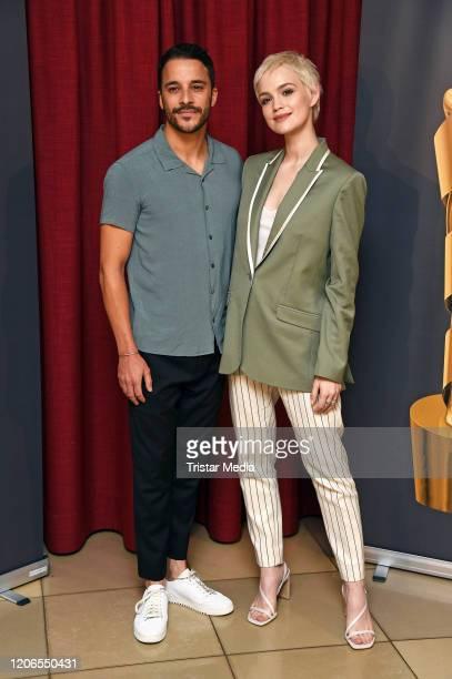 Kostja Ullmann and Emilia Schuele attend the Lola - German Film Award 2020 - Nominees Announcement at Delphi Filmpalast on March 11, 2020 in Berlin,...