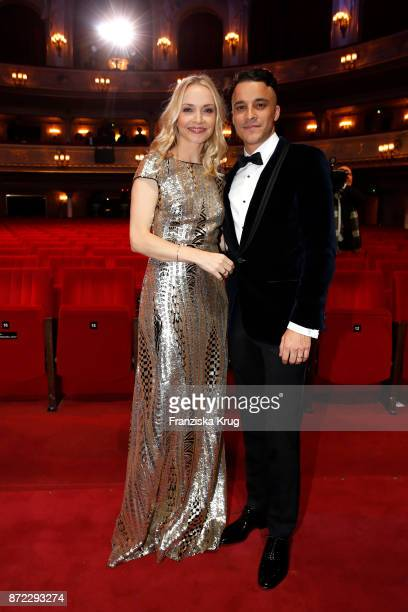 Kostja Ullmann and wife Janin are seen at the GQ Men of the year Award 2017 show at Komische Oper on November 9 2017 in Berlin Germany